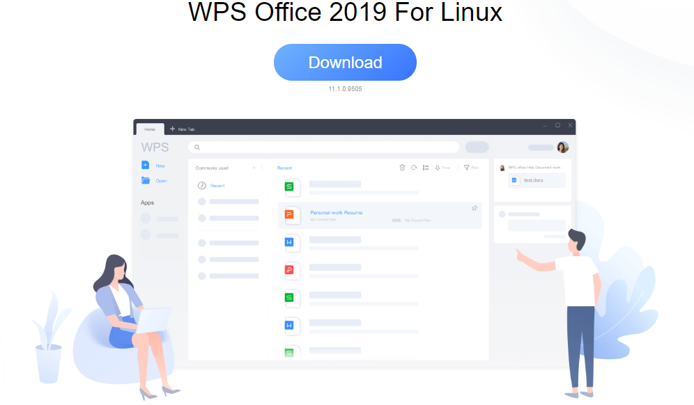 Загрузка пакета Debian WPS Office для Ubuntu 20.04 LTS